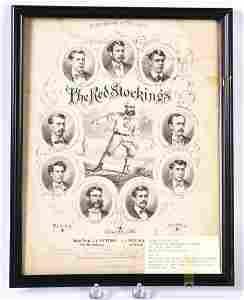 1869 THE CINCINNATI RED STOCKINGS SHEET MUSIC