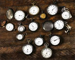 GROUPING OF (14) ANTIQUE POCKET WATCHES