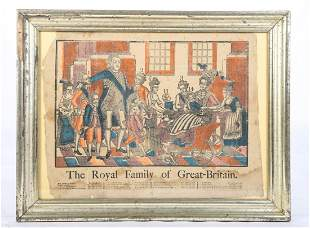 COLORED ENGRAVING OF BRITISH ROYAL FAMILY
