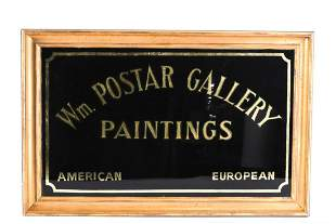 WILLIAM POSTAR GALLERY PAINTINGS TRADE SIGN