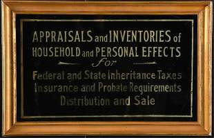 APPRAISALS and INVENTORIES TRADE SIGN