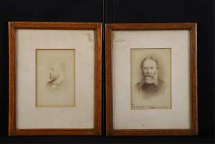 JAMES RUSSELL LOWELL & HENRY JAMES SIGNED PHOTOS