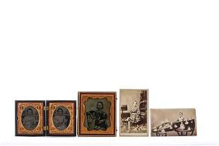 (5) EARLY PHOTOGRAPHS OF CHILDREN with TOYS