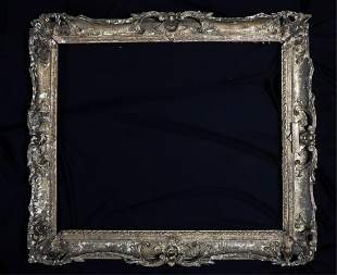 (18th c) CARVED and GILT ROCOCO FRAME