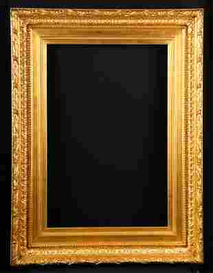 1860s AMERICAN CONVEX MOLDED PICTURE FRAME