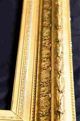 1860's NEO-CLASSICAL GILT FRAME