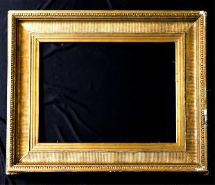 1870's AMERICAN FLUTED COVE MOLDED FRAME