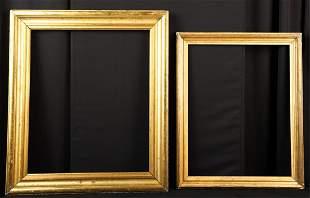 TWO (19th c) LEMON GOLD COVE MOLDED FRAMES