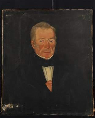 Circa 1830 AMERICAN SCHOOL PORTRAIT OF A GENTLEMAN