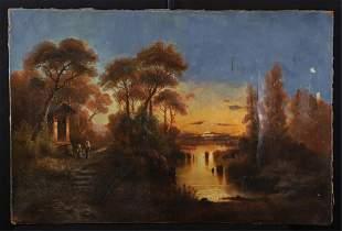 (Late 19th c) EUROPEAN SCHOOL Luminous Landscape