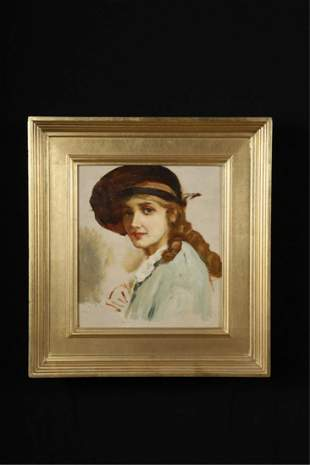 (Early 20th c) AMERICAN SCHOOL SKETCH OF A WOMAN