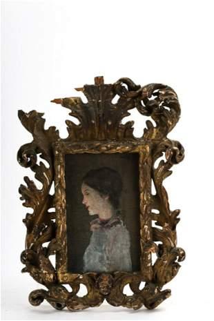 Attr JOSEPH LINDON SMITH PORTRAIT in ITALIAN FRAME