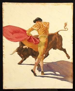 AMERICAN SCHOOL (20th c) Bullfighting Scene
