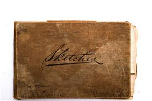 (19th / 20th c) SKETCH BOOK by JAMES H. HUNT
