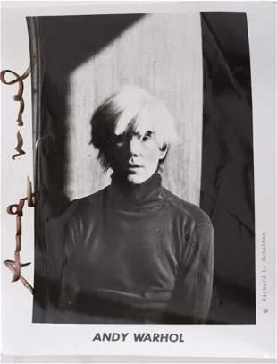 RICHARD SCHULMAN (20thc) PHOTOGRAPH of ANDY WARHOL