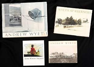 (4) ANDREW & JAMIE WYETH BOOKS / EXHIBITIONS