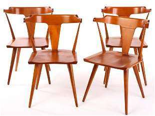 PAUL McCOBB PLANNER GROUP T-BACK DINING CHAIRS
