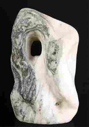 AMERICAN SCHOOL (20th c) ABSTRACT MARBLE SCULPTURE