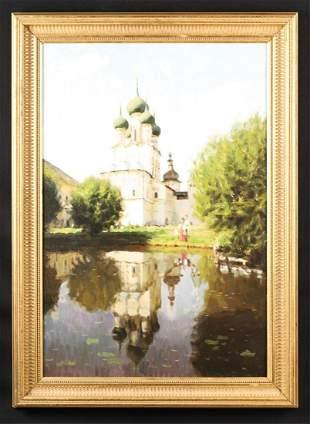 RUSSIAN SCHOOL (20th c) Signed SOKOLOV