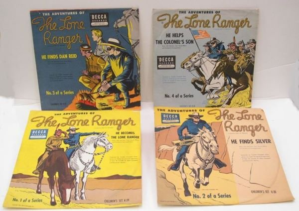 "4: Four Lone Ranger Decca ""78's"" Records 1-4 of the ser"