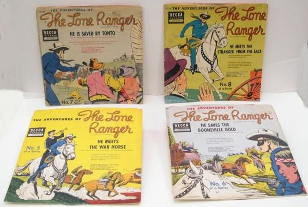 "5: Four Lone Ranger Decca ""78's"" Records 5-8 of the ser"
