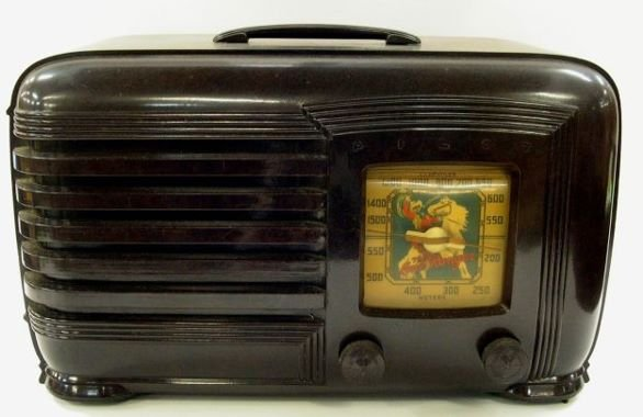 13: The Lone Ranger Pilot Radio in brown.