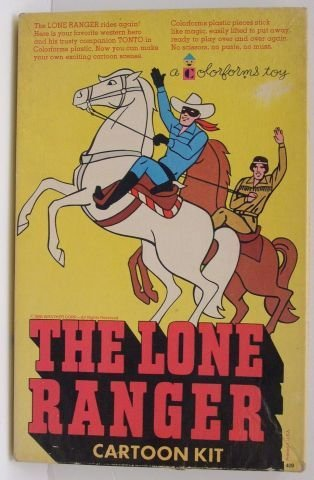 15: The Lone Ranger cartoon kit, colorforms.