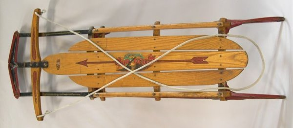 1257: Flexible Flyer Airline Junior Sled with super ste