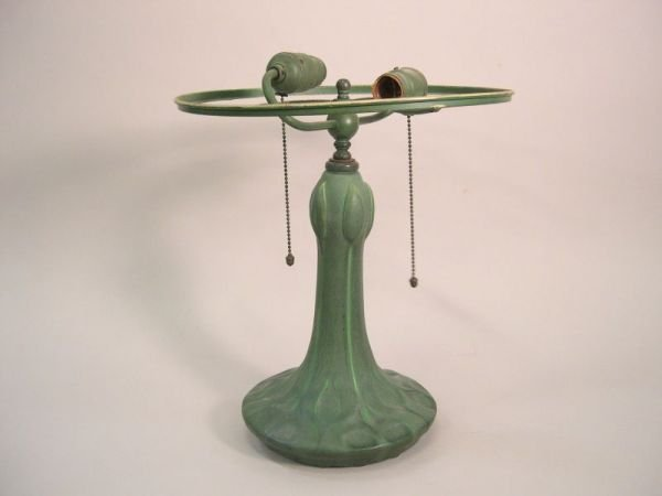1110A: Arts and Crafts Style Hamphsire Pottery Lamp