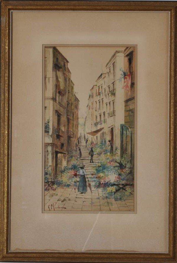 4: Italian School (19th century) An Italian Street Scen