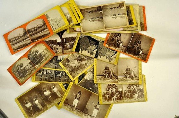 410: Important collection of early stereo views 200+
