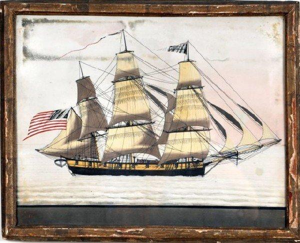 "414: American School (19th C) American Ship ""Prudent"""