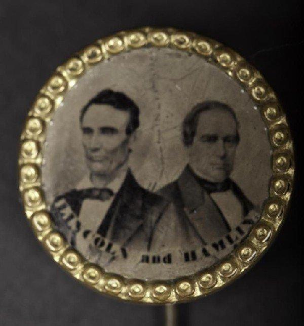 420: Rare political stick pin campaign  button, Lincoln