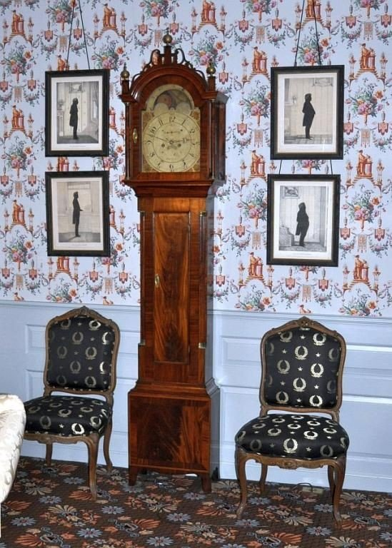 536: Important federal period Mahogany tall case clock