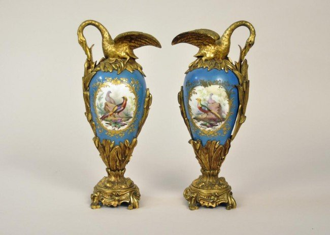 3: 19th Century French Sevres porcelain and gilt bronze