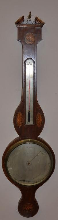 13: Inlaid Scottish Barometer by T. Tochetti Aberddegn