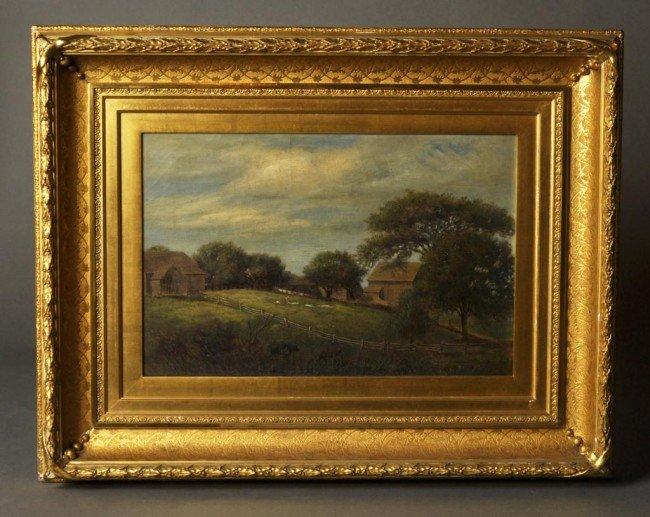"19: Benjamin F. Nutting, American (1813-1887) """"Farm Sc"