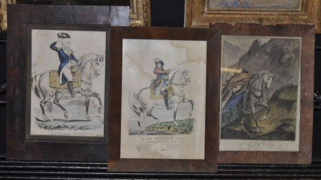 503: Group of three colored prints by Currier and Ives