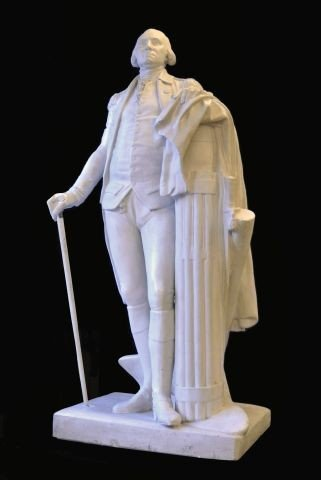 264: Late 19th c. monumental George Washington statue,