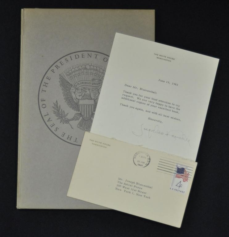 264B: Jacqueline Kennedy White House letter & book