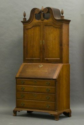 18th C. Connecticut Chippendale Bonnet Top Cherry