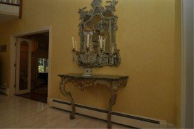 274: Pair of 20th C. Parcel Gilt Rococo Console