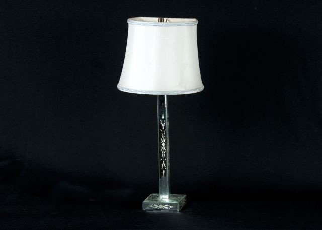 279A: Mirror Glass Table Lamp,