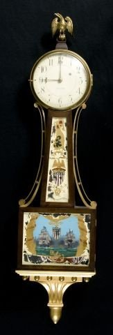 "572: Waltham "" Perry's Victory, Lake Erie"" Banjo clock"
