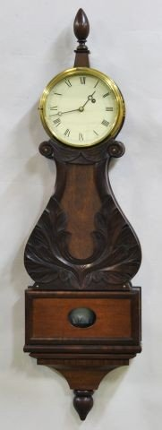 572A: Federal mahogany Lyre Clock with acorn finial
