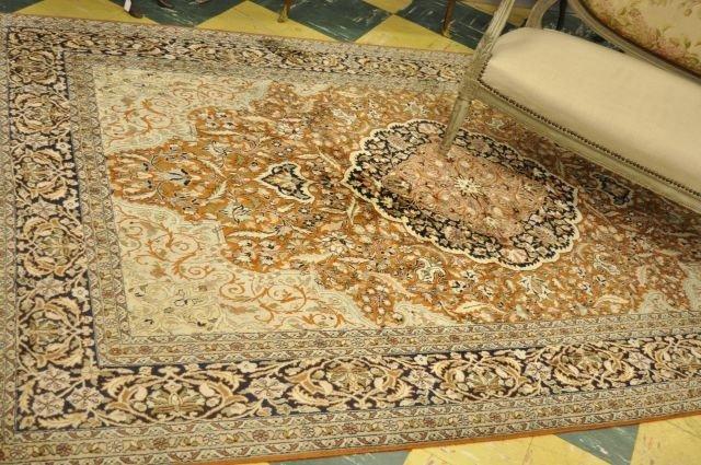 271: Hand woven silk rug, 1970s