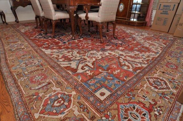 271A: Oversized Hand Woven Oriental Carpet