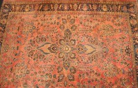 271B: 1920's Persian hand woven room size carpet