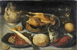 1: Flemish School (16th/17th century) Still life
