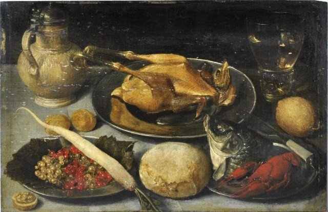 1: Flemish School (16th/17th century) Still life